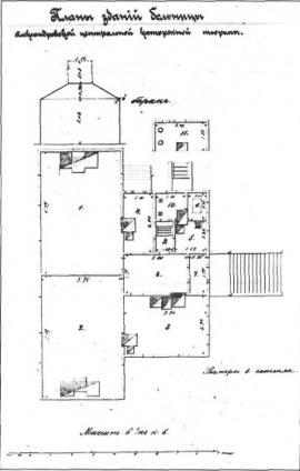 План зданий больницы. Нач. 1890-х гг. ГАИО