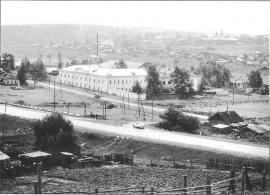 Вид на бывшую Александровскую центральную каторжную тюрьму и село. Фото И. Бержинского. 1993 г.