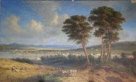 Егор Мейер, Виктор Резанов. Вид города Иркутска. 1868 год. ИОХМ