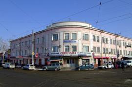 Дом колхозника на углу ул. Партизанской и Тимирязева. Строительство закончено в 1937. Фото: блоггер Friedens