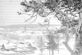 Вид на бывшую Александровскую центральную каторжную тюрьму и Александровское селение. Фото Э. Брюханенко. 1972 г.