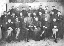 Служащие каменноугольных копей В.А. Рассушина. Фото 1907 г.