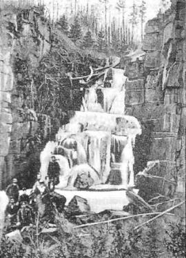 Водопад на р. Ук. Фото кон. XIX в.