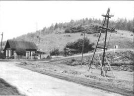 Вид на гору, где находилось кладбище. Фото И. Бержинского. 1993 г.