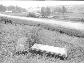 Сохранившиеся могильные плиты. Фото И. Бержинского. 1993 г.