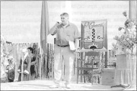 Выступление мэра Черемхово В.Семенова. Фото Т. Ковальской