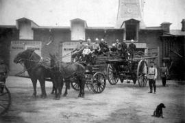 Обоз пожарной части. Фото начала ХХ века.
