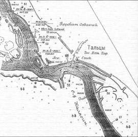 Лоция Ангары в районе Тальцов