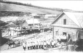 Строительство комплекса пересыльной тюрьмы. Фото кон. 1890-х гг.