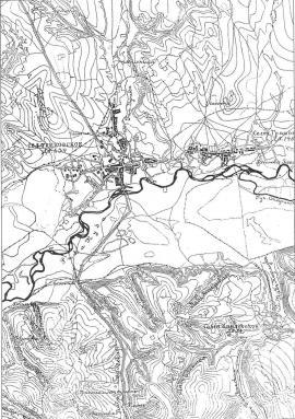 План окрестностей Иркутска. Район Уриковского селения. 1893 г.