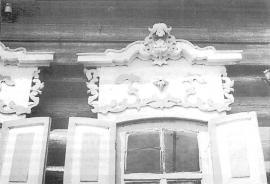Наличники окон дома кон. XIX в. Фото Л. Басиной. 1991 г.