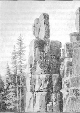Скалы по берегам р. Уды. Фото кон. XIX в.