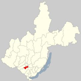 Аларский район на карте Иркутской области. Источник: ru.wikipedia.org