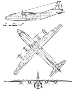 Техническая схема Ан-12
