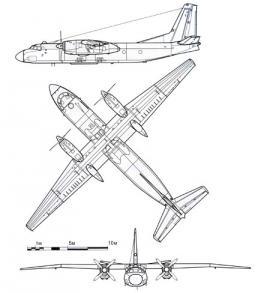Ан-24Т. Техническая схема