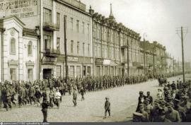 Иркутск, ул. Большая, 25 апреля 1919. Марш войск Чехословацкого легиона