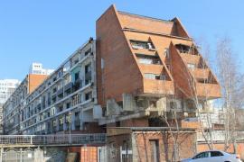 """""""Дом-корабль"""", вид с торца здания. Фото С. Михеевой"""