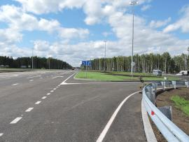 Автодорога М-53 у посёлка Шеберта. Фото Сергея Иванова