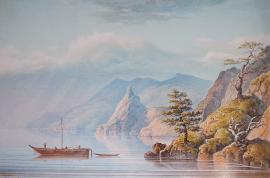 Л. Немировский. Озеро Байкал. Скала Малая Колокольня в Бухте Песчаной. 1840 - 1850