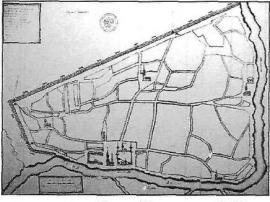 План Иркутска 1729 г., составленный М.Зиновьевым