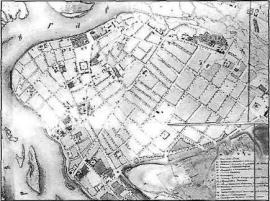 План Иркутска 1849 г. (фрагмент)