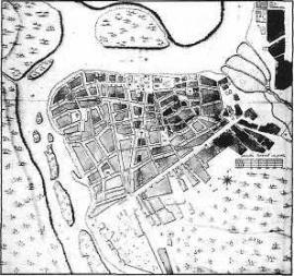 План Иркутска 1767 г. (фрагмент)