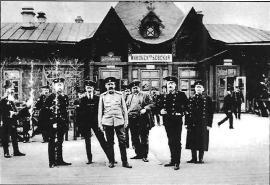 Здание станции Иннокентьевская. Фото ок. 1914 г.