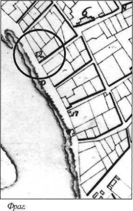 Фрагмент плана Иркутска 1784 г.
