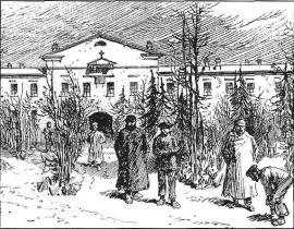 У иркутского тюремного замка. Рис. Ю.М. Прайса