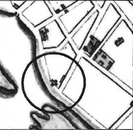 Фрагмент плана Иркутска 1815-1818 гг.