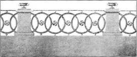 Образцовый проект ограды из альбома апробированных чертежей 1811 г.