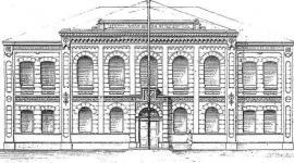 Проект здания фельдшерской школы. Главный фасад