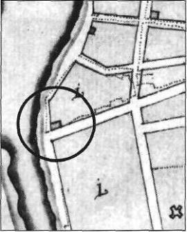 Фрагмент плана Иркутска 1792 г.