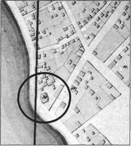 Фрагмент плана Иркутска 1843 г.