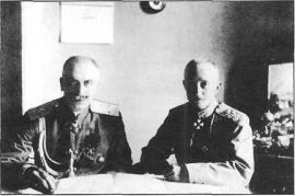С.А. Сухомлин и А.А. Брусилов