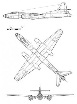 Ту-14. Техническая схема