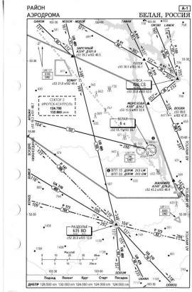 Схема аэродрома Белая