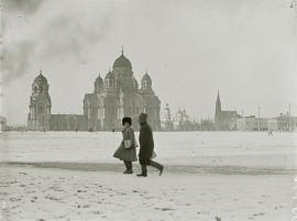 1919 год. Вид на Казанский собор