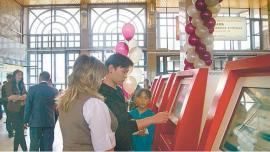 Билетопечатающие автоматы на станции Иркутск-Пассажирский