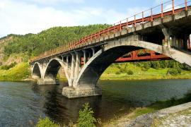 Кругобайкальская железная дорога. Один из мостов
