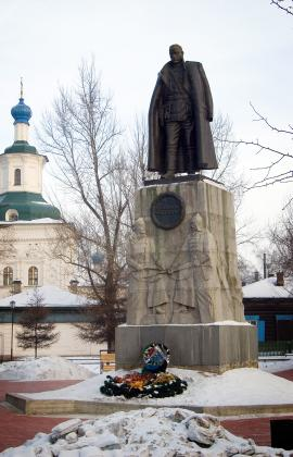 Памятник А.В. Колчаку в Иркутске