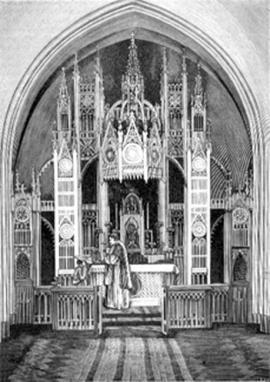 Иркутский костёл. Алтарь из дерева, установленный в 1868