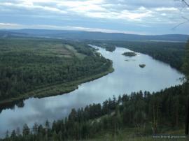 Чунский район, Лесогорск. Вид с Баяндинской горы