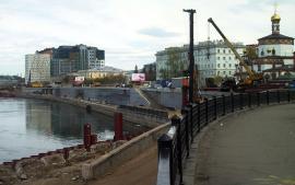 Реконструкция Нижней Набережной Ангары. Современное фото