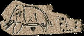 Изображение мамонта со стоянки в Мальте. Из коллекции Эрмитажа