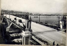 Мост им. В.И. Ленина в Иркутске. Ноябрь 1936