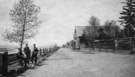 Набережная реки Уды в Нижнеудинске. Фото начала ХХ века