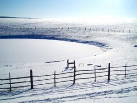 Озеро Нуху-Нур зимой