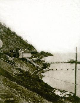 Marina on the station Maritui CBRY (119 km), the view from the shore. 1905