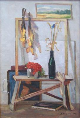 Н.А. Опанасенко. Сельский натюрморт. Холст, масло, 59 × 39,5. 1982 год